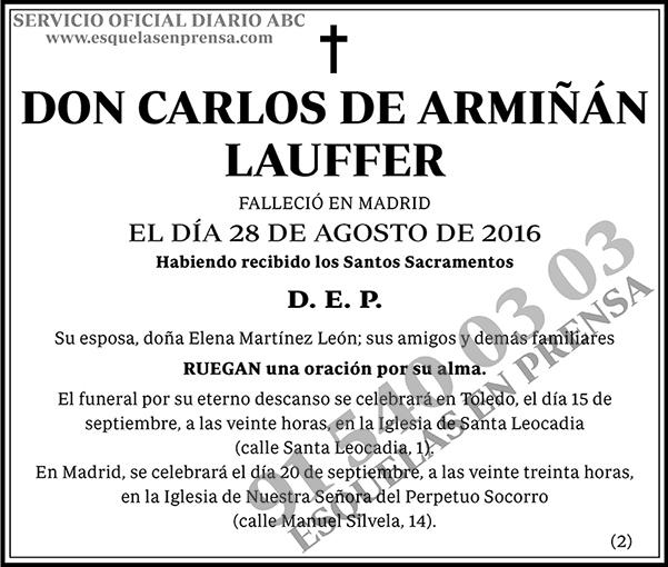 Carlos de Armiñán Lauffer